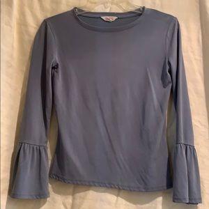 Long sleeve ruffle T-shirt - worn once
